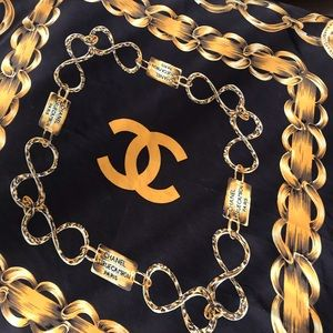 Vintage Chanel scarf with chain detail